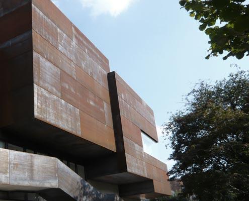 Veranstaltungszentrum Bad Radkersburg, Corten-Fassade, Denkmalschutz, Bauen im Bestand