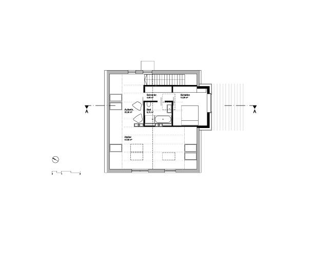 Haus Umbau 50er Jahre Architekt Wien Umnutzung Grundriss Dachgeschoß
