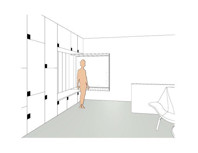 Zubau Umbau Einfamilienhaus SKOPOS Wien Architekturbüro Innenraum Gestaltung Sitznische Treppe
